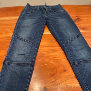 Levi's jeans in seamed Moto style